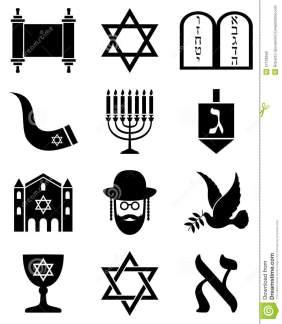 iconos-blancos-y-negros-del-judasmo-27126556
