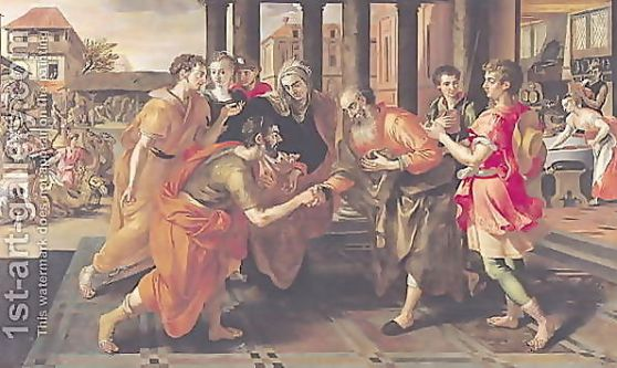 Laban-Presenting-Eliezer-To-His-Father,-1562