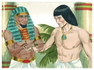 dialogue of joseph in the bible This interpreter, meilits, is mentioned in genesis 42:23 only after the second  dialogue between joseph and his brothers, as joseph is about to.