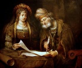 Aert_de_Gelder_-_Esther_y_Mardoqueo_escribiendo_la_primera_carta_del_Purim.jpg